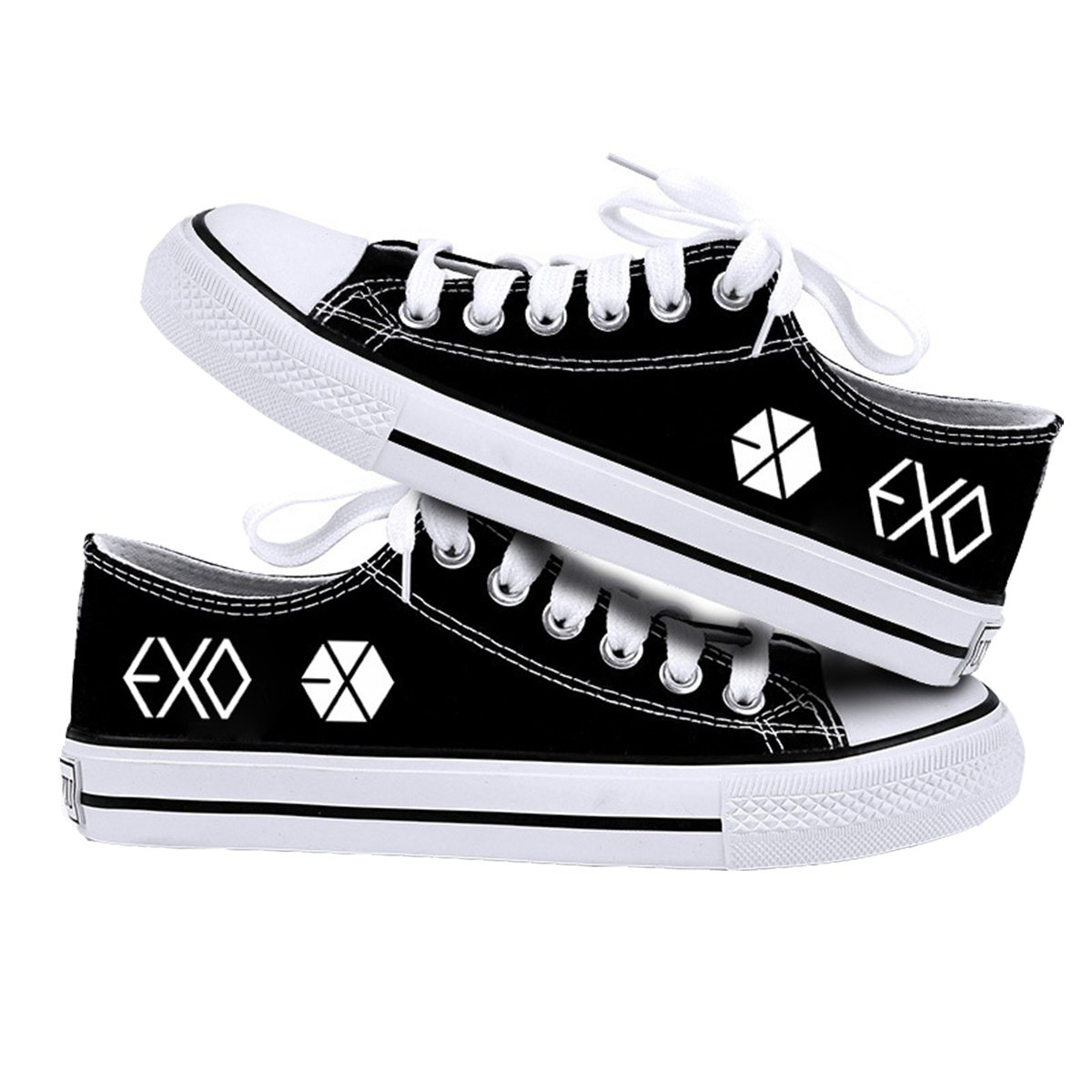 Kpop EXO Canvas Shoes Sneakers Fashion Hiphop Style Low Shoes