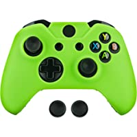 Surge Xbox One & One S Controller Skin & Thumb Stick Grips, Green - Xbox One