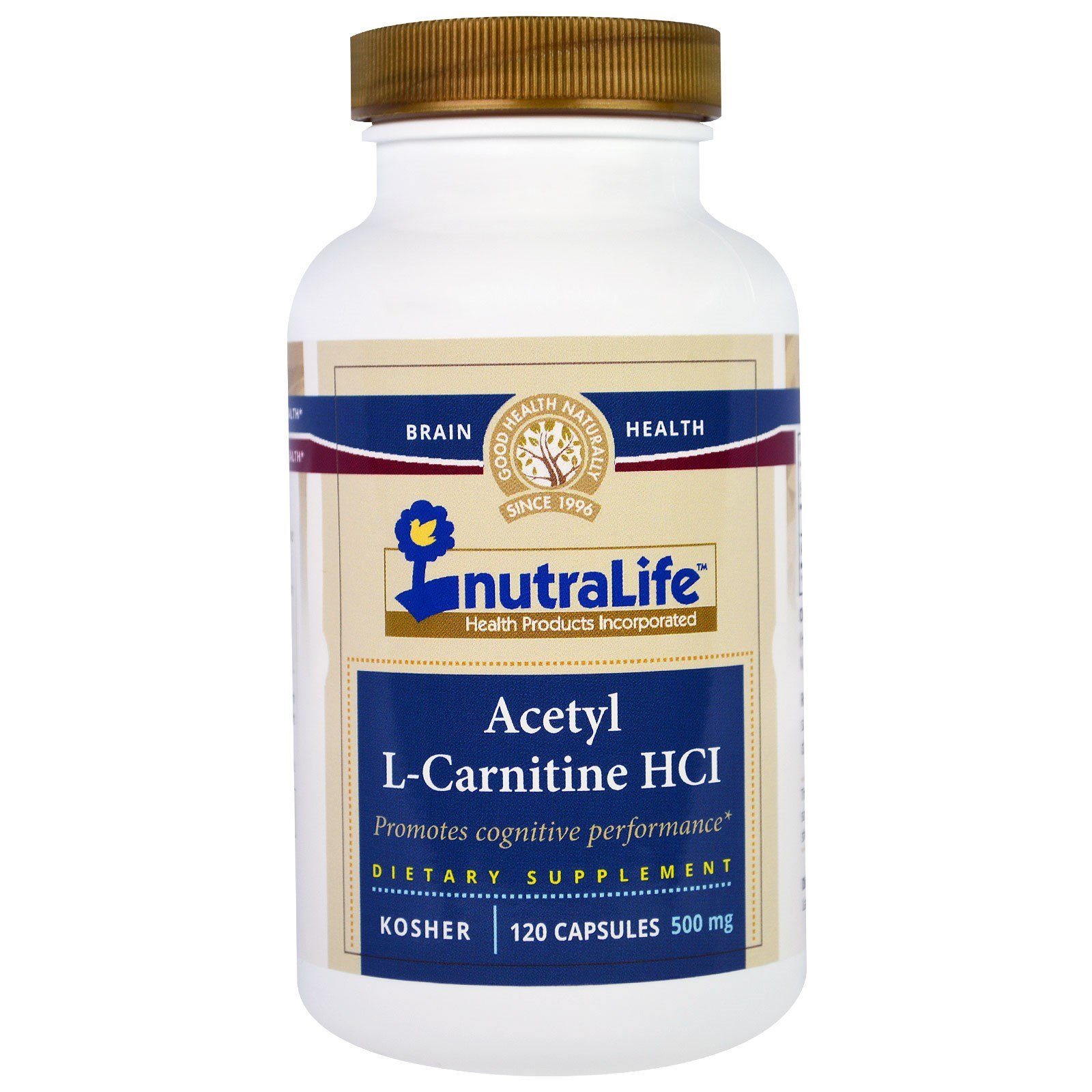 NutraLife, Acetyl L-Carnitine HCI, 500 mg, 120 Capsules - 3PC