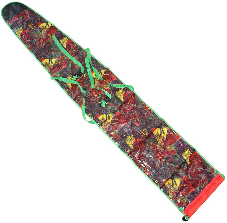 INTERWEAR Bolsa para esquís, portaesquís, modelo- retro, multicolor, para 2 pares de esquís como máximo- -, color Skisack, Farbvariante 1, tamaño 214x35 cm