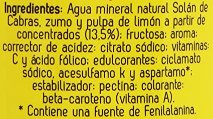 Solan de Cabras Limón refresco de Zumo de Frutas sin Gas - 33 cl: Amazon.es: Amazon Pantry