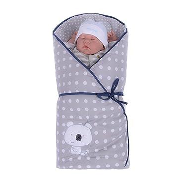 Sevira Kids saco de dormir de bebé koala-liseret azul