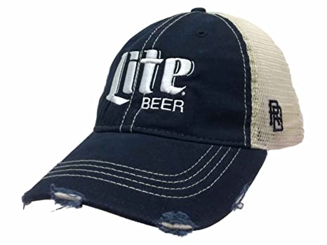 Image Unavailable. Image not available for. Color  Miller Lite Brewing  Company Retro Brand Vintage Mesh Beer Navy Blue Adj Hat Cap ad425d1d78f4