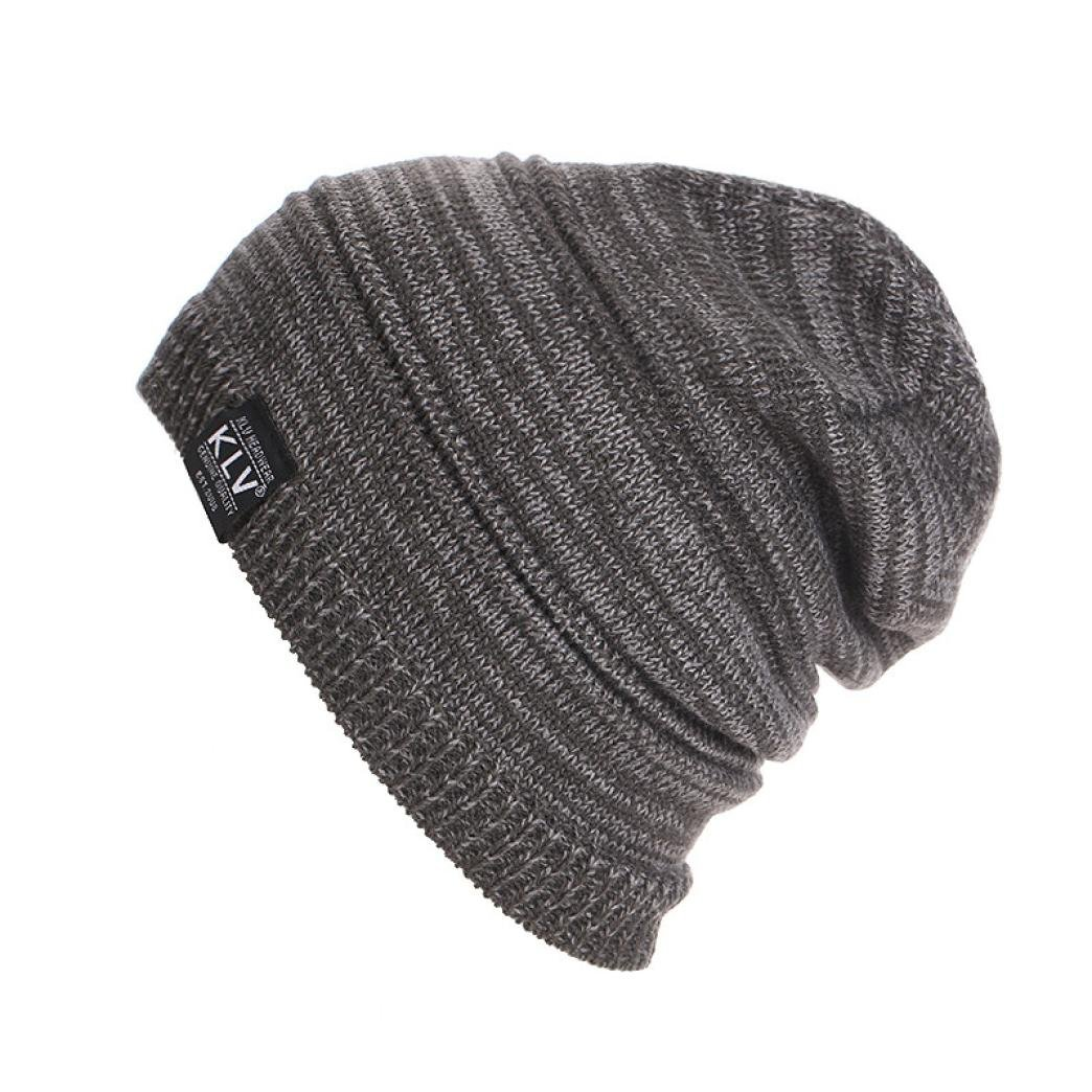 Egmy Men Women Unisex Knit Baggy Beanie