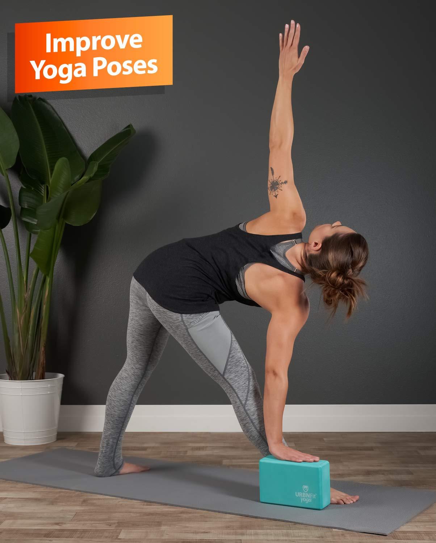 Stretching Yoga Block Set Yoga Accessories for Yoga Pilates Meditation Yoga Block,2Yoga Blocks and 1 Cotton Yoga Strap