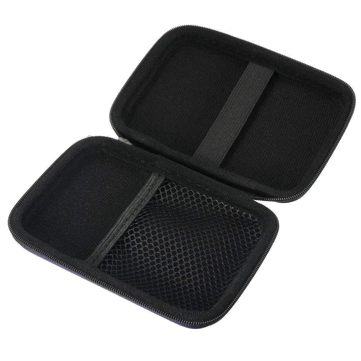 Negro Nikgic 2,5 Paquete Duro Externo Paquete Disco Duro Port/átil PU Funda Rigida con Cremallera para Disco Duro 1PC Accesorios de Disco Duro