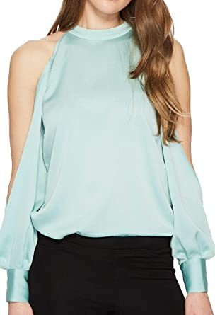 cff09fe9d 1.State Womens Cold Shoulder Blouson Sleeve Blouse at Amazon Women's ...