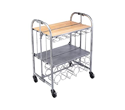 Kitchen Craft BarCraft - Carrito Plegable para Bebidas de Estilo Vintage (71 x 46 x