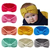 Toptim Baby Headbands Turban Girl Knitting Wool Head Wrap Knotted Hair Band for Photographic