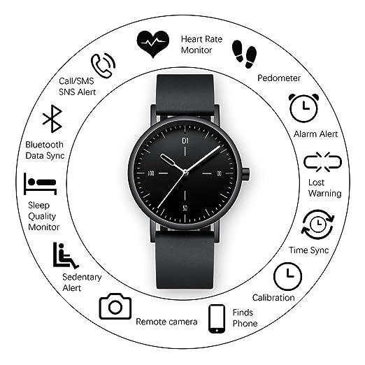 Smartwatches Reloj inteligente analógico de silicona, impermeable, multifuncional, con monitor de frecuencia cardíaca