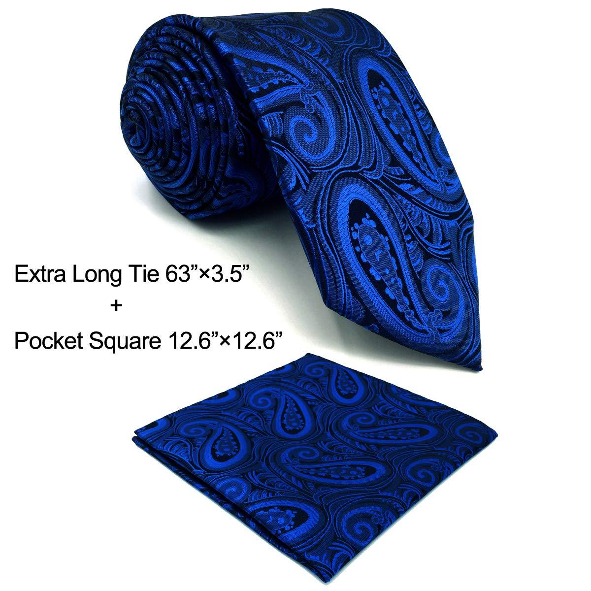 SHLAX/&WING /¨/²nico Dark Azul Corbatas Para Hombre Cachemir Extra Long for Men Suits