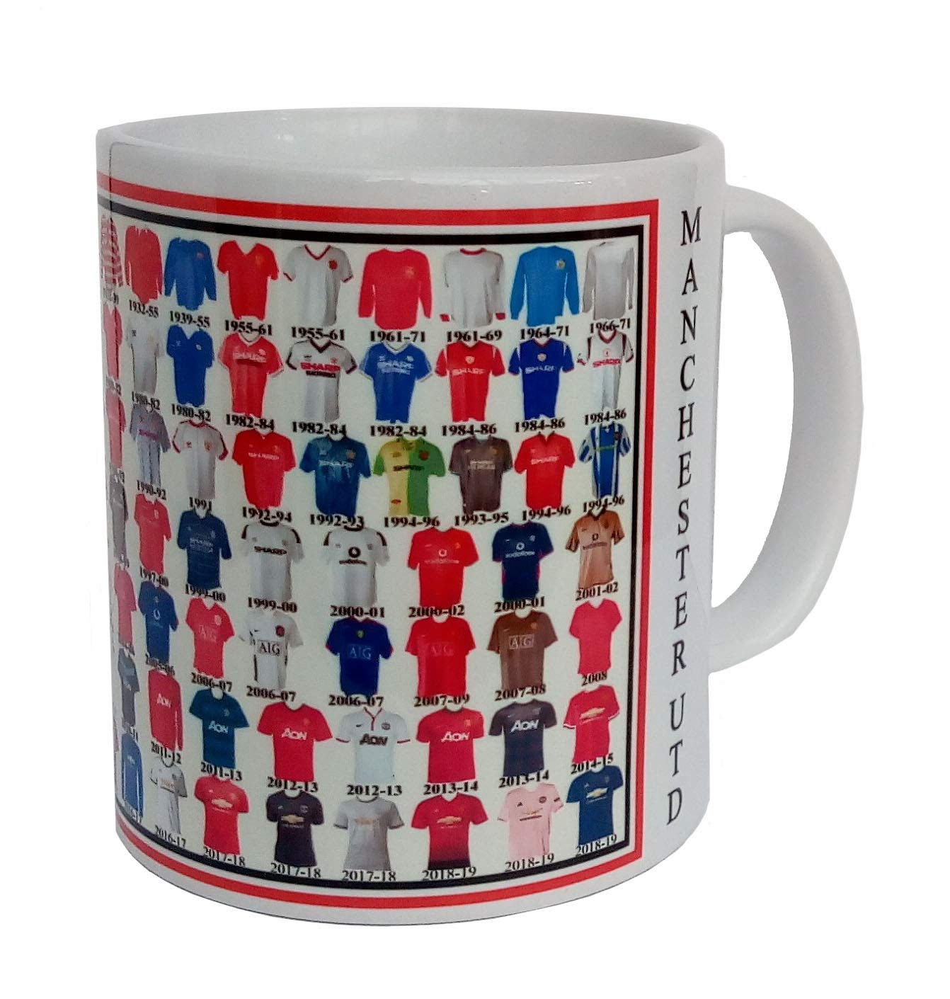 95ecd39aae5 Manchester United mug Manchester United shirt History Mug Ceramic Mug  football Mug  Amazon.co.uk  Kitchen   Home