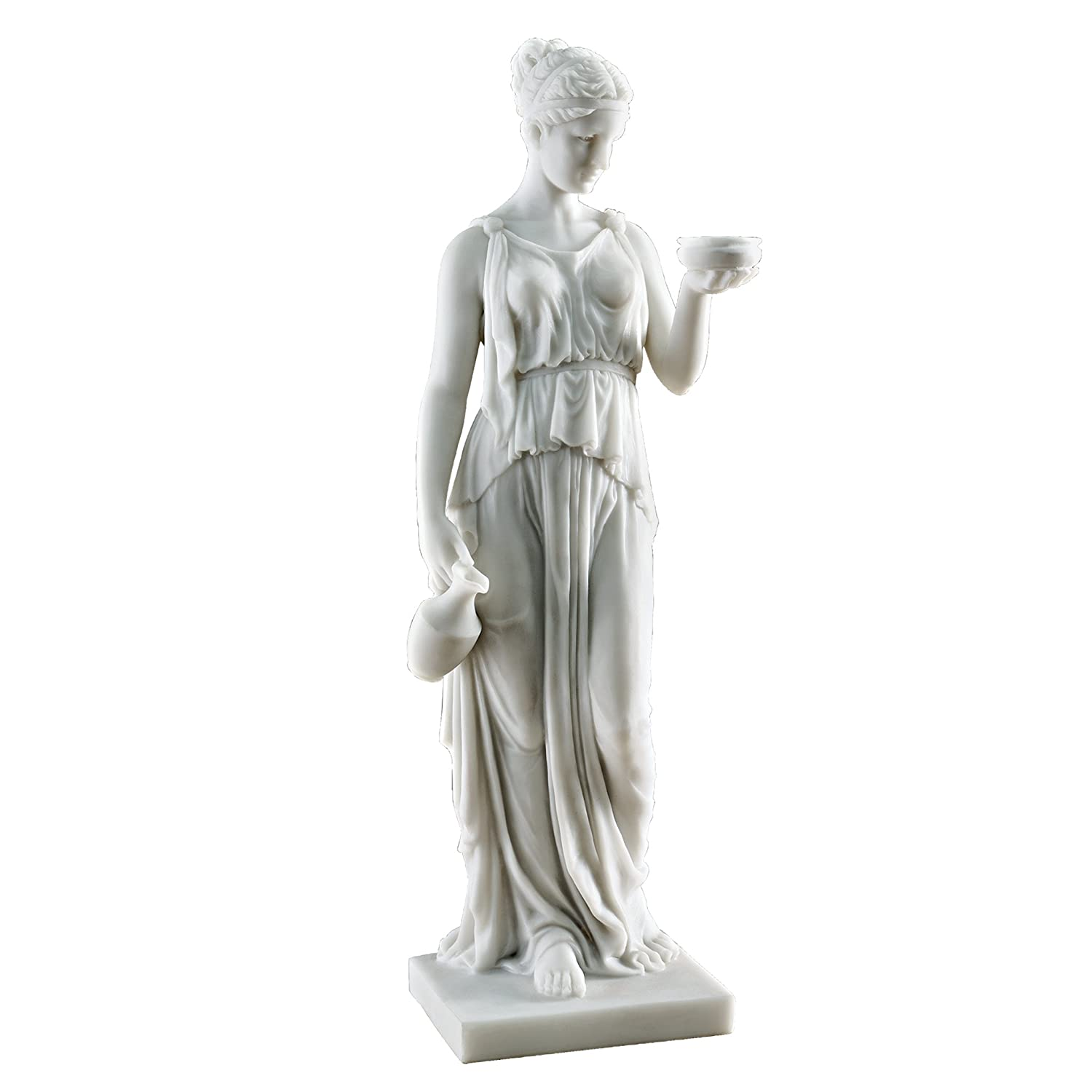 Design Toscano Hebe, the Goddess of Youth Bonded Marble Resin Statue