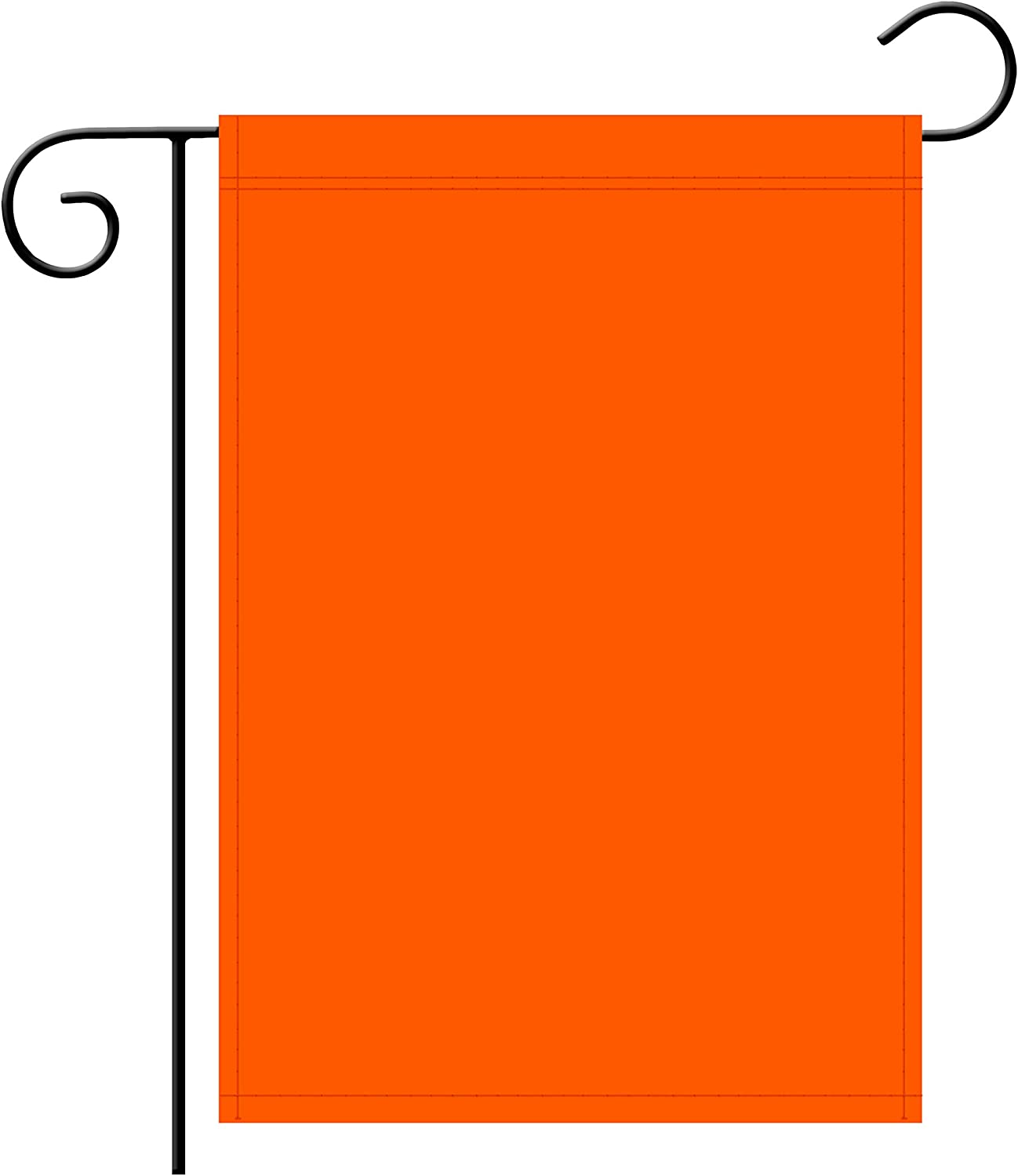 "TSMD Solid Orange Garden Flag Double Sided Plain Orange DIY Flags,Outdoor Yard Decorative Flags,12""x 18"""