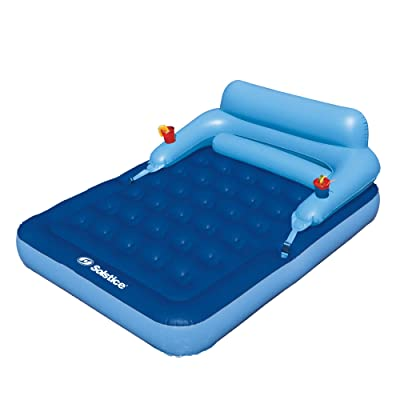 "77"" Inflatable Blue Malibu Mattress Swimming Pool with Removable Back Rest: Toys & Games"
