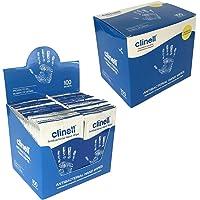 100 x Clinell ANTIBACTERIAS 2 in 1 Manual de acción Limpieza Hidratación Desinfectante SOLO Toallitas MATA