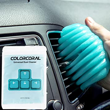 ColorCoral Gel limpiador de polvo para teclado, limpiador universal para limpieza de coche y polvo de computadora (1 paquete)