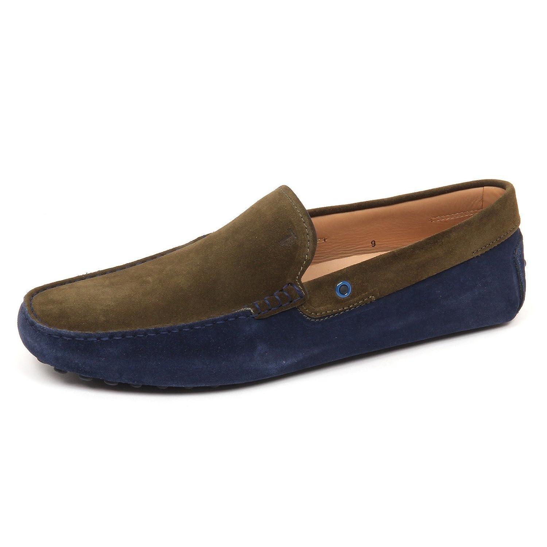E3690 Mocassino uomo BLU/Green Tod's Scarpe Suede Loafer Shoe Man 11|Verde/Blu