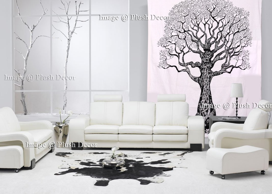 Amazon.com: Black & White Tree Tapestries Tree of Life Hippie ...