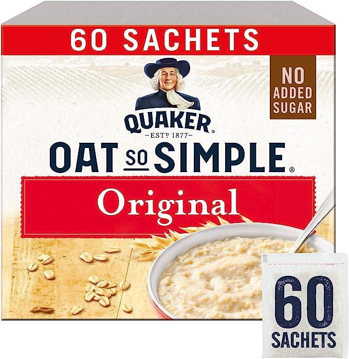 Quaker Oats So Simple Original Microondas 27g Bolsitas X 60 (El embalaje puede variar): Amazon.es: Alimentación y bebidas
