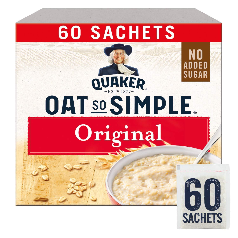 Quaker Oat So Simple Original Porridge Sachets, 60 x 27 g