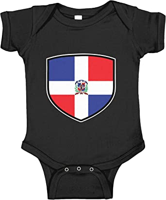 1//2 Dominican is better than none Baby Bodysuit Dominicana Flag