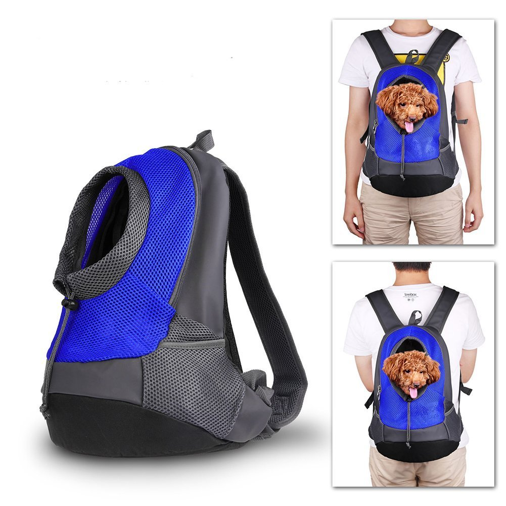 Pet porte-sac à dos Chien Sac de transport de Voyage Sac à dos de Ventral Poitrine Transporteur Sacs pour Petit Animaux (Bleu) Paladin NLH