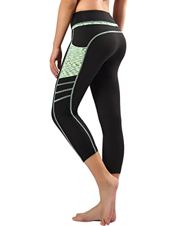b1b1861019 Sugar Pocket Womens Outdoor Capris Fitness Tights Leggings Walking Running  Yoga Pants