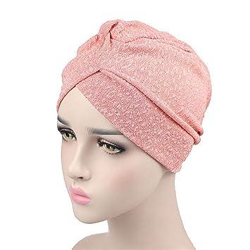 Amazon.com : New Fashion Women Turban Breathable Vent Twist ...