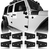 Hooke Road Steel Door Hinge Kit Compatible with Jeep Wrangler JK 07-18