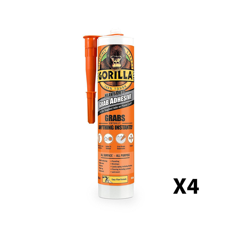 GORILLA GLUE 2044001 290 ml Grab Adhesive - White (2 Pack)