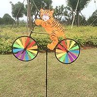 SCASTOE Cute 3D Animales en Bicicleta Molino Whirligig