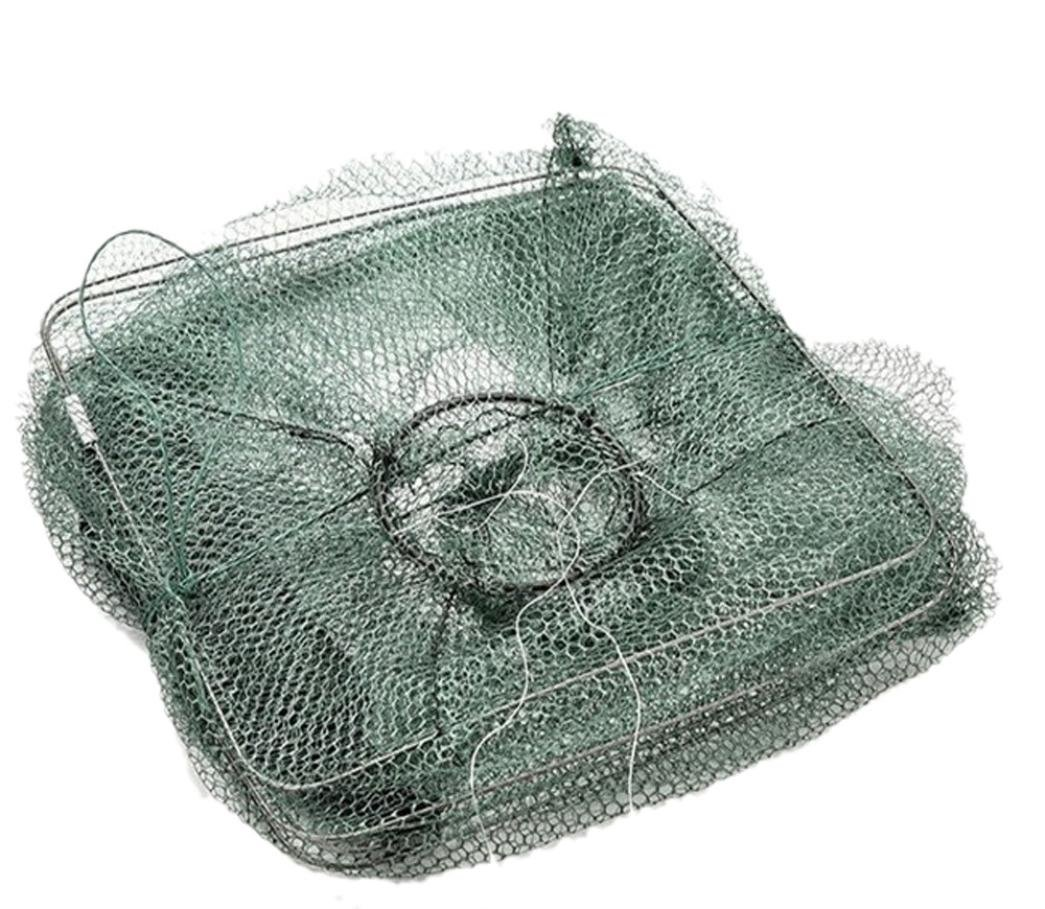 Quaanti 2018 New Folding Fish Minnow Crab Fishing Bait Shrimp Trap Cast Net Cage Green