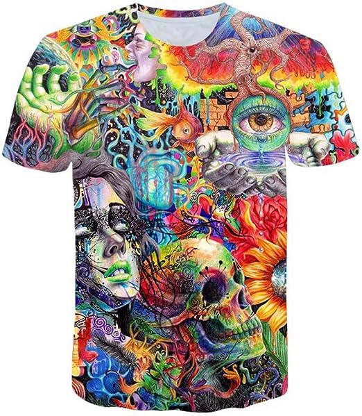 ZCYTIM Old Knowledge Camiseta psicodélica Camiseta con Estampado 3D Mujer Hombre Moda Ropa Tops Trajes Camisetas Estilo de Verano: Amazon.es: Deportes y aire libre