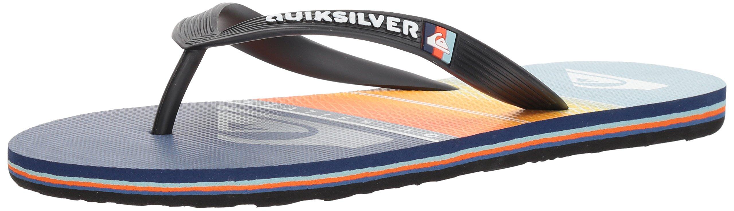 Quiksilver Men's Molokai Highline Slab Sandal, Black/Orange/Blue, 13 M US