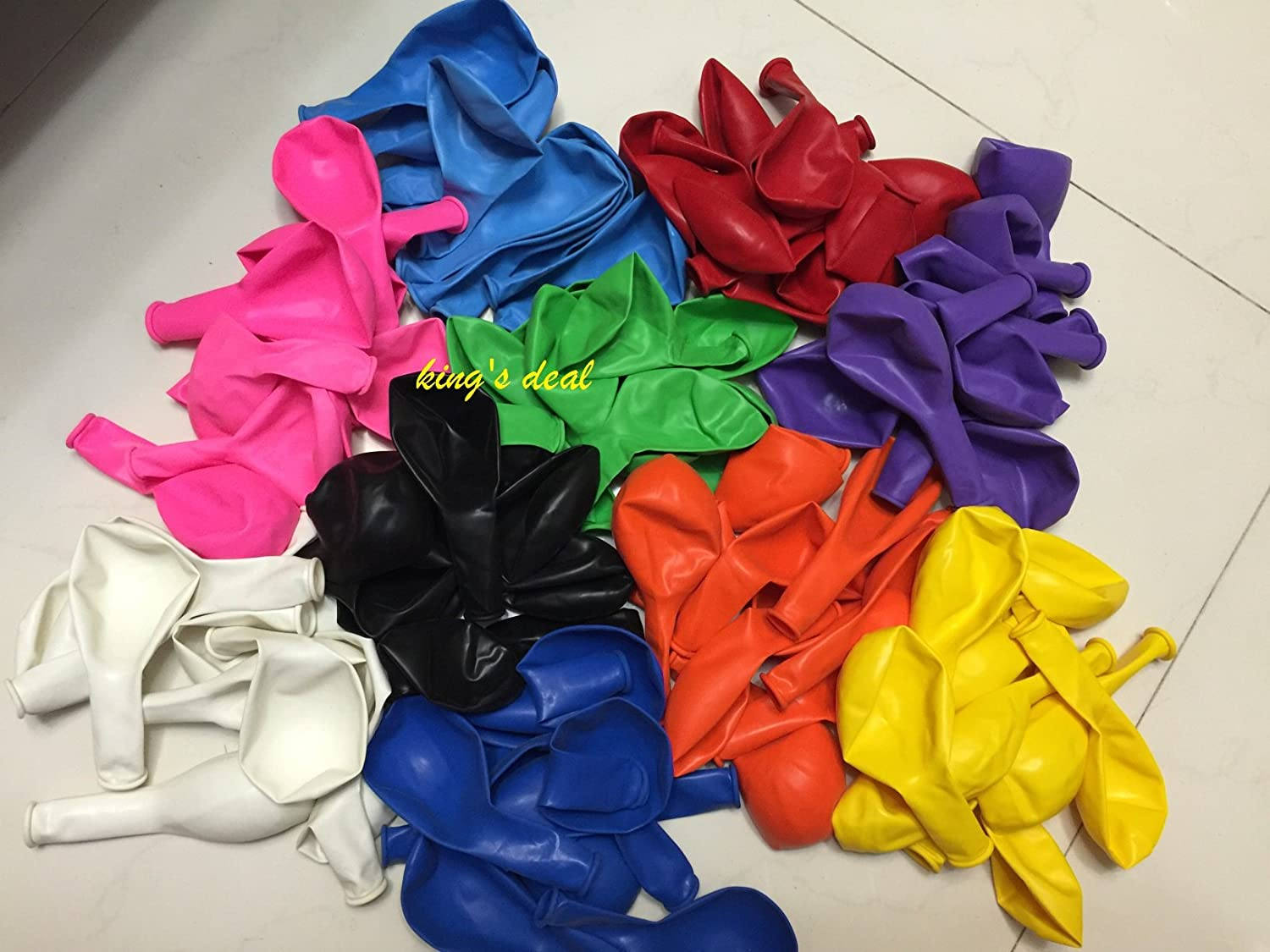 Kings deal- Tm 100/(10color x 10/) Latex Balloons - 11 Inch - Assorted Colors king/'s deal