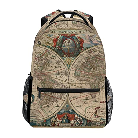 Amazon giovanior old world map backpack school bag bookbag giovanior old world map backpack school bag bookbag hiking travel rucksack gumiabroncs Gallery