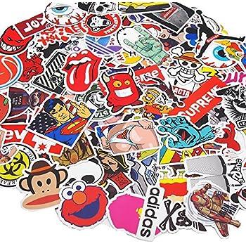 7e81be432220 Amazon.com: Edwin Group of Companies 300 Random Skateboard Stickers ...