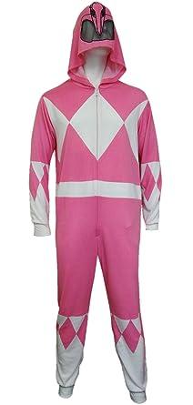 Power Rangers Pink Ranger Adult One Piece Pajama Union Suit (Large)