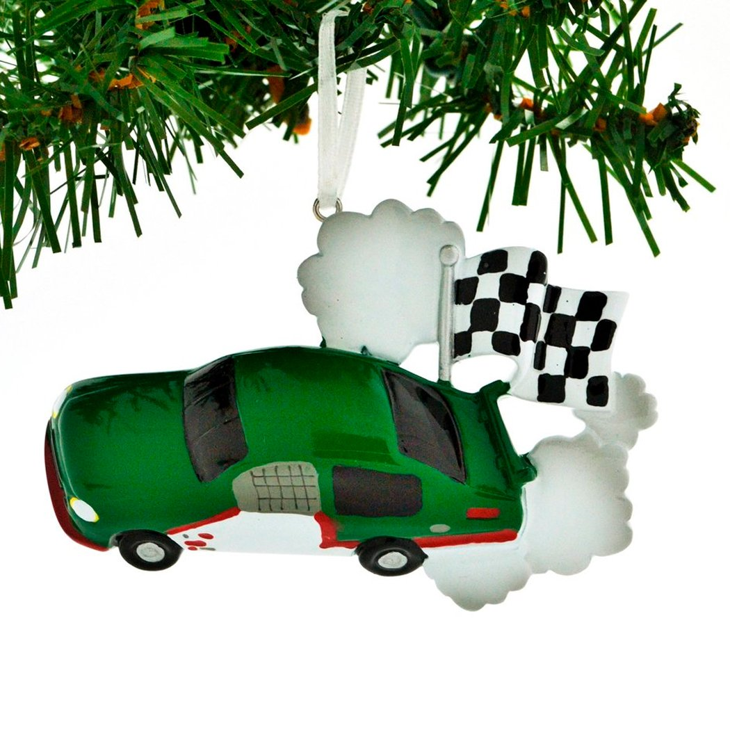 Car Christmas Ornaments.Personalized Race Car Checkered Flag Christmas Ornament For Tree 2018 Red Motorsport Auto Mobile Street Racing Off Track Action Formula 1 Video