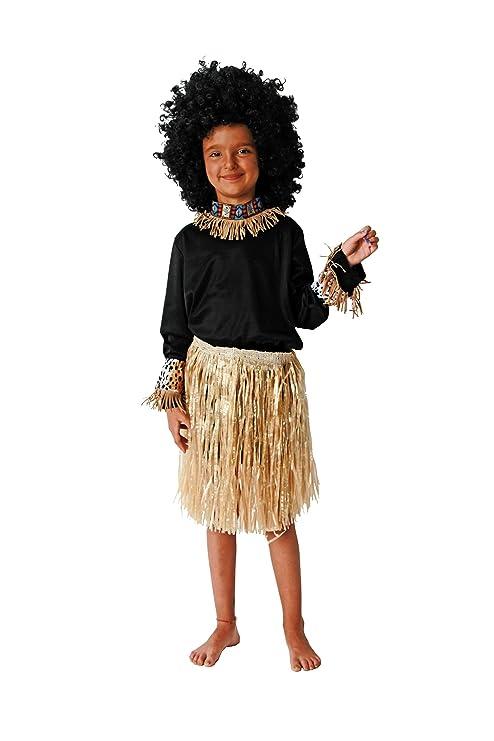 Costumizate! Disfraz de Africano Talla 10-12 Especial para niños Fiestas de Disfraces o Carnaval