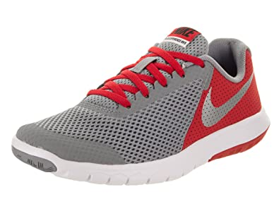 44c743a8c4559 Nike Boy s Flex Experience 5 (GS) Running Shoe Stealth Metallic Silver Red