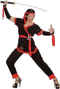 WIDMANN Sancto Disfraz de Chica Ninja Adulto Carnaval: Amazon.es ...