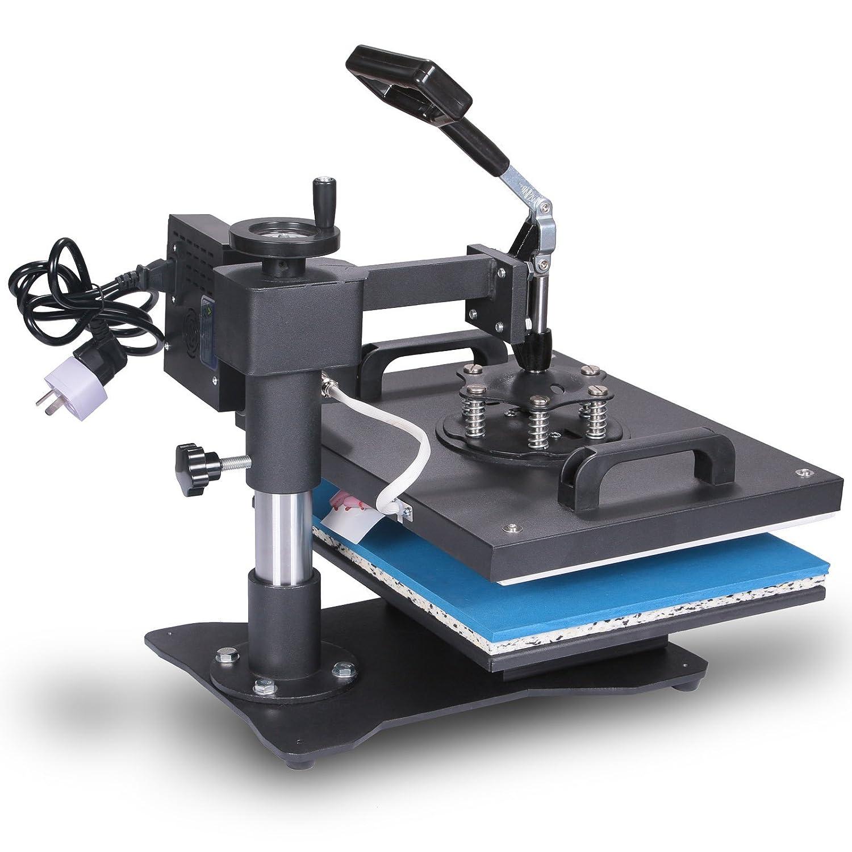 VEVOR Prensa de Calor Máquina de Traslado Press Taza prensa Textil Press Transferencia de Calor Máquina 8 en 1 Camiseta La Sublimación Rotación de 360 ...