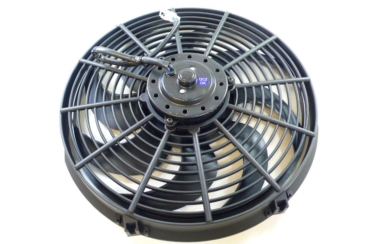 Racer Performance 16' High Performance Electric Radiator Cooling Fan - Curved Blade