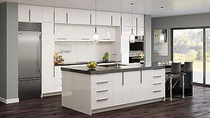 Amazon Com Gloss White Cabinet Modern Comtemporary Wood Frameless