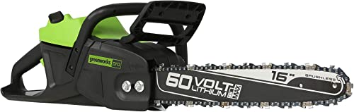 Greenworks Pro Bare Tool 60-Volt Max Lithium Ion 16-Inch GEN2 Brushless Cordless Electric Chainsaw Battery and Charger Not Included