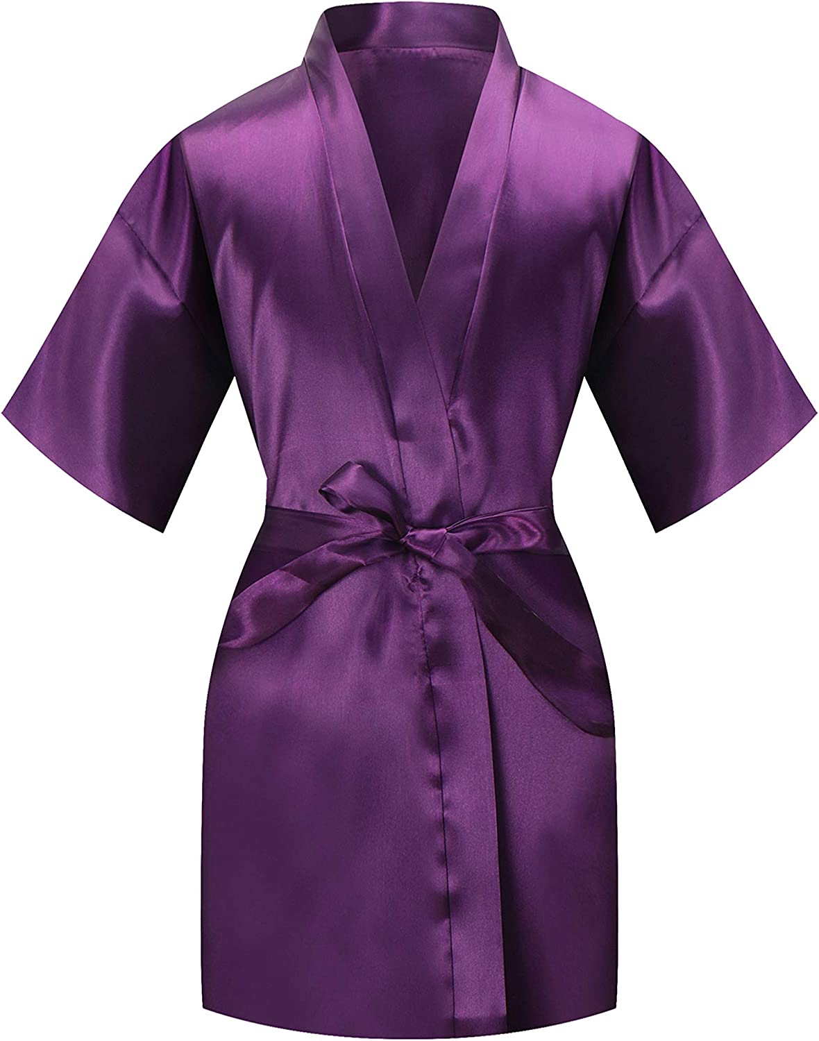 SEALINF Flower Girls Bridesmaid Pure-Colored Robe with Gold Glitter for Bridal Party Wedding Getting Ready