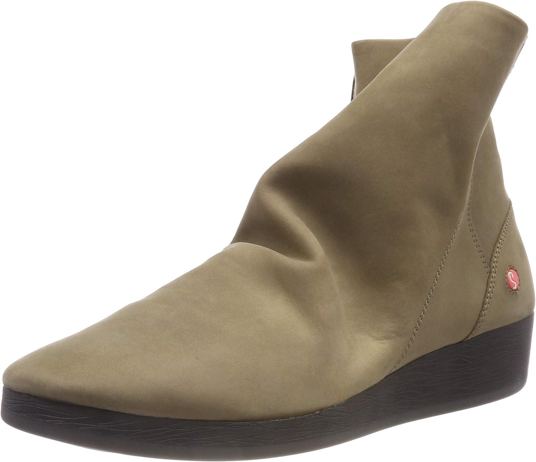 Softinos Ayo 411 Smoke Womens Nubuck Zip-up Ankle Boots