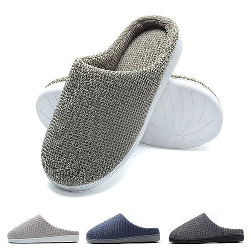 FLY HAWK Pantofole Invernali Uomo in Feltro da Casa - Ciabatte Peluche  Ultra-Morbido e c93c97f50c2